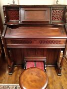 Antique Kimball Pump Organ With Stool-working Order-collectible