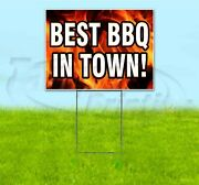 Best Bbq In Town 18x24 Yard Sign With Stake Corrugated Bandit Business Barbeque