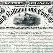 Cumberland Railway And Coal Co. 1886 30 Year Bond Proof, Canada Bank Note Co.