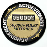 Achievement Miles Motored - Magnetic Grill Grille Badge For Mini Cooper