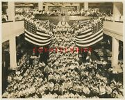 1913 Photo Olds Wortman And King Dept Store Portland Or American Flags Rose Fest
