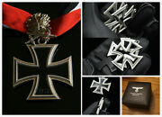 Wwii German Knightand039s Medal Wh Oak Leaf Sword Knight Iron Cross Badge Historical