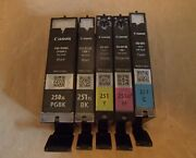 Lot Of 5 Canon 250 And 251 Empty Virgin Ink Cartridges Look 3 Are Xl