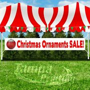 Christmas Ornaments Sale Advertising Vinyl Banner Flag Sign Large Size Holidays