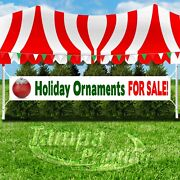 Holidays Ornaments For Sale Advertising Vinyl Banner Flag Sign Large Christmas