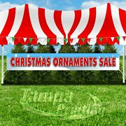 Christmas Ornaments Sale Advertising Vinyl Banner Flag Sign Large Size Holiday