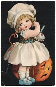 Halloween Postcard, Ellen Clapsaddle, Series 501 Published By Wolf And Co.
