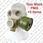 Vintage Soviet Russian Ussr Military Pmg Gas Mask With Original Bag Size 1 2 3