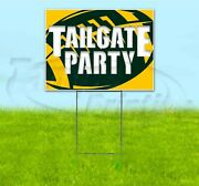 Tailgate Party Packers 18x24 Yard Sign With Stake Corrugated Bandit Usa Football
