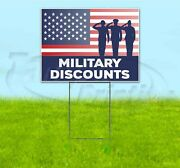 Military Discounts 18x24 Yard Sign With Stake Corrugated Bandit Usa Veterans
