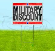 Military Discount 18x24 Yard Sign With Stake Corrugated Bandit Usa Veterans