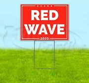 Red Wave 18x24 Yard Sign With Stake Corrugated Bandit Usa Business Election