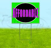 Affordable 18x24 Yard Sign With Stake Corrugated Bandit Business Usa Dealership