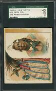 1888 N36 Allen And Ginter American Indian Chiefs - Iron Bull - Sgc 3 Vg