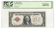 Fr1500 1928 1 Legal Tender United States Note Pcgs 64 Ppq