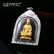 New Stainless Steel Part Plated-gold Buddhism Bring Lucky Necklace Pendant China