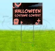 Halloween Costume Contest 18x24 Yard Sign With Stake Corrugated Bandit Business