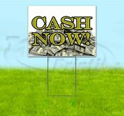 Cash Now 18x24 Yard Sign With Stake Corrugated Bandit Business Usa Pawn