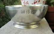 Collectible Js X Mg John Somers Brazil Bright Pewter Shaving Candy Bowl Mint