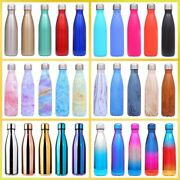 Water Bottle 500ml Stainless Steel Thermal Outdoor Exercise Bike Sports Flasks