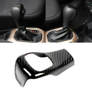 Carbon Fiber Inner Gear Lever Shift Knob Cover Trim For Jeep Cherokee 2014-2018