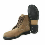Wwii Us Army Gi Rough Out Ankle Boots Leather Combat Boots Ww2 Shoes