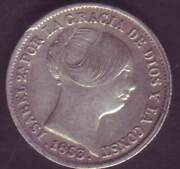 Currency 1 Real Isabel Ii - Year 1853 - Barcelona