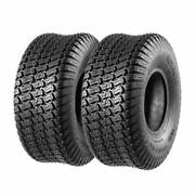 Set Of 2 15x6x6 Turf Tires For John Deere Tractor Riding Mover Lawn Garden Tire