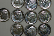 Lot Of 10 1955-1964 Proof Roosevelt 90 Silver Dimes Stock Num3573