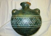 Antique Or Primitive Handmade Clay Pottery Vessel