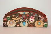 Russian Soviet Union Garrison Hat Cap With Pins, Badges, And Patches Cccp Size 57