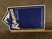 Kokanee Beer Sign Plastic Blue White Columbia Brewery Wall Mount Man Cave