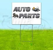 Auto Parts 18x24 Yard Sign With Stake Corrugated Bandit Usa Business Repair