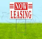 Now Leasing 18x24 Yard Sign With Stake Corrugated Bandit Usa Business