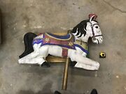 Wow Cool Country Store Concrete Antique Outside Carousel Horse-a6