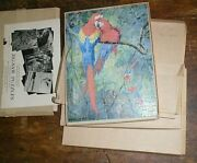 Complete Set 4 Plywood Wildlife Jigsaw Puzzle Illustrated By R Bruce Horsefall