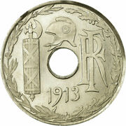 [657261] Coin France 25 Centimes 1913 Essai Ms60-62 Nickel