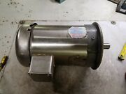 Baldor 3 Hp Stainless Electric Motor 230/460 Vac 1780 Rpm 3 Phase 182tc Frame