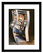 Old Payphone Surrealism City Phone Booth Decor Wall Art Gift Picture Framed Art
