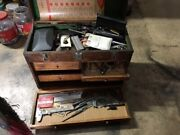 Antique Macinists Tools And Tool Box
