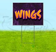 Wings 18x24 Yard Sign With Stake Corrugated Bandit Business Usa Barbecue