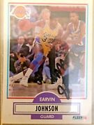 Autograph Of Magic Earvin Johnson / 1990 Fleer 93 Card Signed By Player