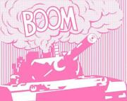 Boom Pink By War Boutique - Screen Print Limited Edition Of Just 4 Sold Out