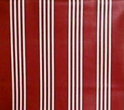 Longaberger Rare Retired Red Berry Stripe Fabric-half Yard -new-shop Our Store