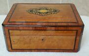 Antique 19th Century French Thuya Sewing Box. Rare Complete Interior Contents