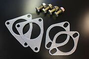 Test Pipes De-cat High Flow Cat Bolts And Gaskets Set For Nissan 07-08 350z And G37