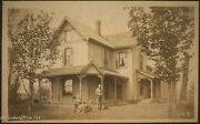 Beautiful Antique Historic Old Florida Cracker Photograph With Dog, 19th Century