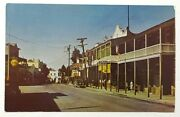 Jamestown Ca C1950s Old Cars Street Scene Signs Stores Vintage Postcard A39