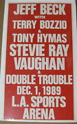Jeff Beck And Stevie Ray Vaughan Los Angeles 1989 Us Org Carton Concert Affiche