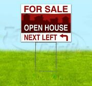 For Sale Open House Arrow 18x24 Yard Sign With Stake Bandit Real Estate Realtor